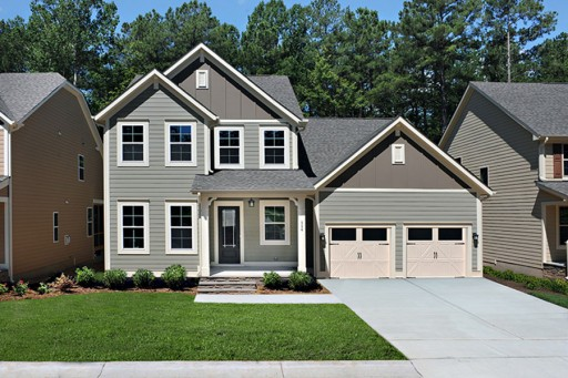New Housing Development Under Construction in Wake Forest, NC
