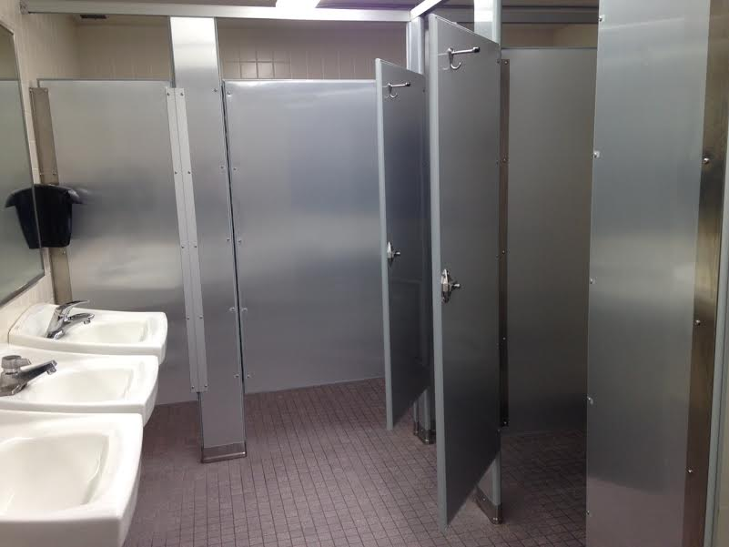 bathroom partitions anaheim graffiti shield inc completes property protection installation on college cus press