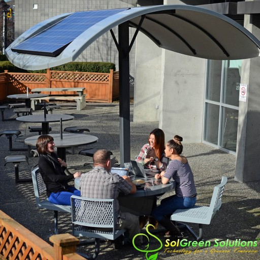 Introducing the NEW Outdoor Solar Charging Table That Powers Your Mobile Devices