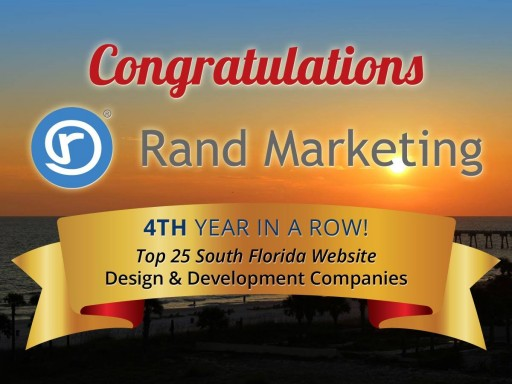 Rand Internet Marketing Named to the Top 10 for Website Design and Development Companies in South Florida