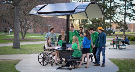 Sustainable Spartans Bring Solar SmartTable to Michigan State University.