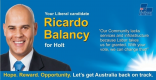 Ricardo Balancy Liberal Candidate for Holt