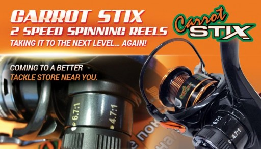 Carrot Stix™ Introduces Market Leading 2 Speed Spinning Reels