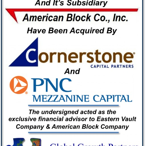 Global Growth Partners Facilitates the Sale of Eastern Vault Company & American Block Company