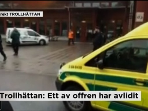 Raw: Sweden School Evacuated After Knife Attack