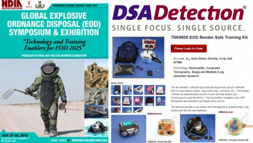 DSA Detection to Attend July 2015 Global EOD Exhibition