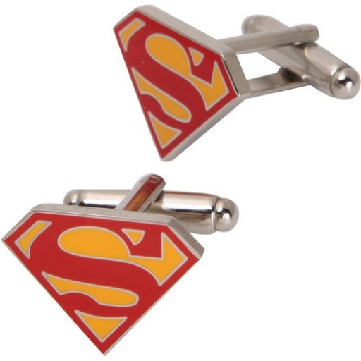 Red And Yellow Trendy & Stylish Superman Cufflink