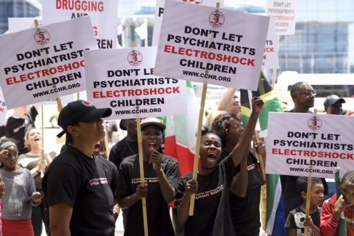 CCHR Protest at WPA Convention Demands End to Child Drugging Now