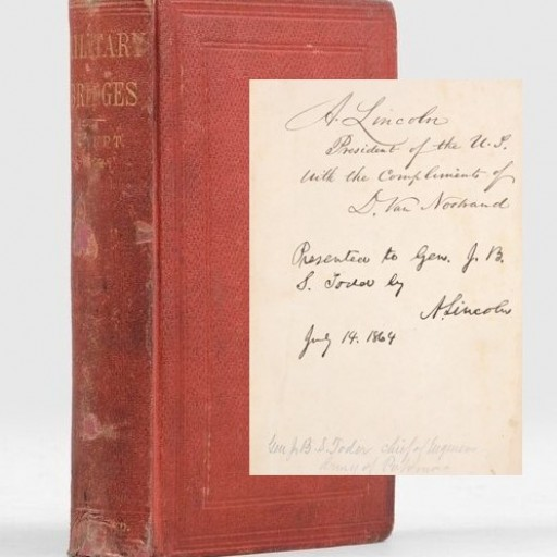 Remarkable Rare Book Inscribed by President Abraham Lincoln