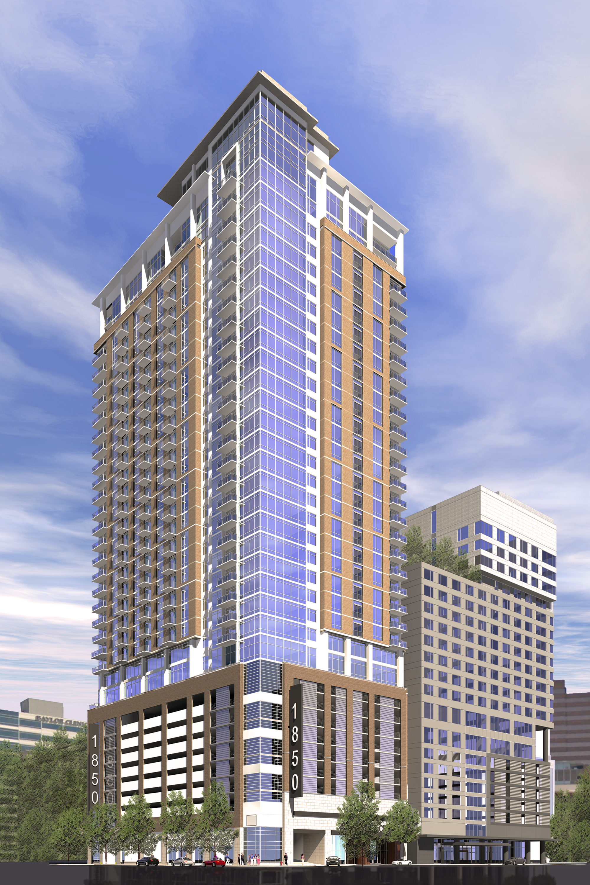 Greystar and medistar announce plans for high rise for Apartment tower plans