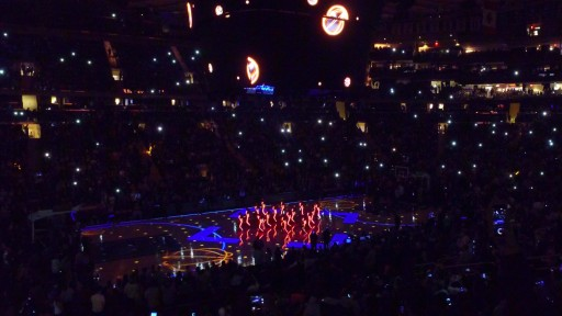 LED Light-Up Costumes Create Visual Excitement for the NY Knicks