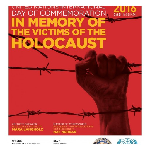 Holocaust Survivor to Speak at Remembrance Event in Pasadena This Sunday