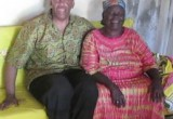 "Anthony ""Amp"" Elmore in Kogelo Kenya with Sarah Obama the Grandmother of President Barack Obama"