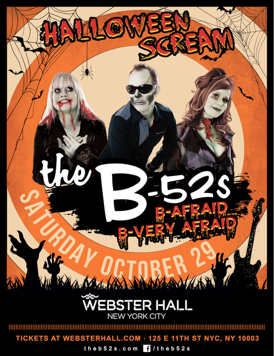 B 52s Return To Webster Hall For Special Halloween Scream