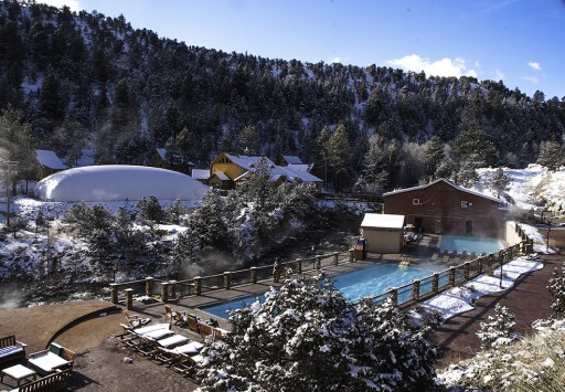 Mount Princeton Hot Springs Resort - winter, Nathrop