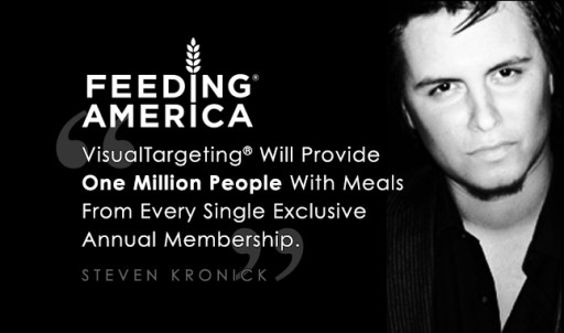 VisualTargeting® Partners With Feeding America: Steven Kronick Announces Limitless Giving Pledge