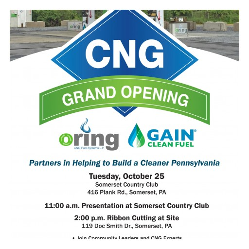 You Are Invited: Celebration for Grand Opening of New Compressed Natural Gas Station for Fleets in Somerset, PA