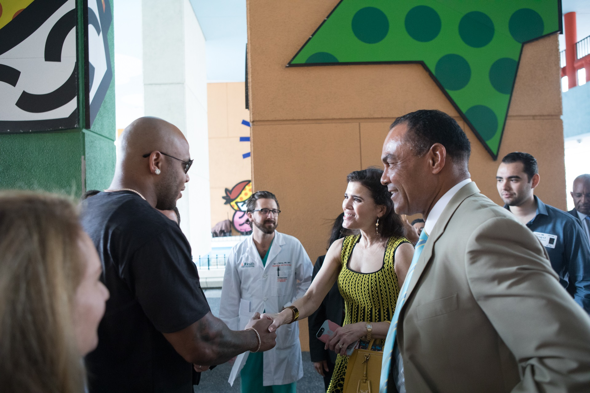 ... Jackson Health Foundation Board Members Greet Rapper Flo Rida