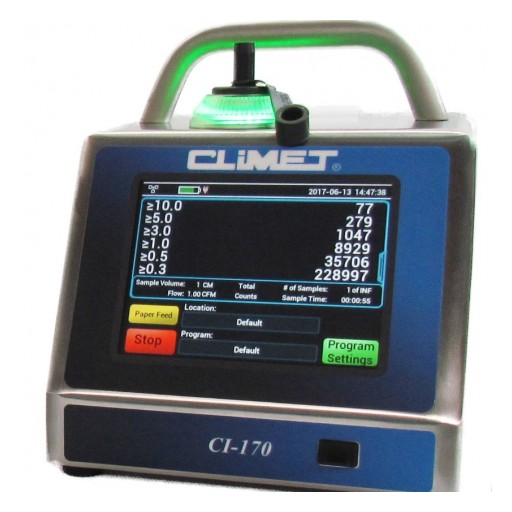 Climet Introduces Nextgen Portable Particle Counter