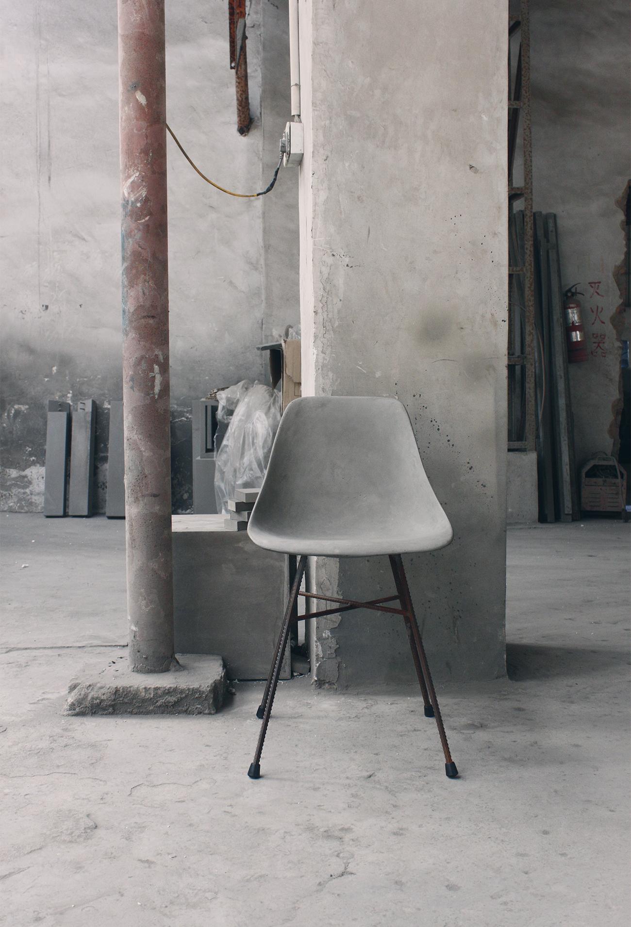 D Hauteville Modern Concrete Chair
