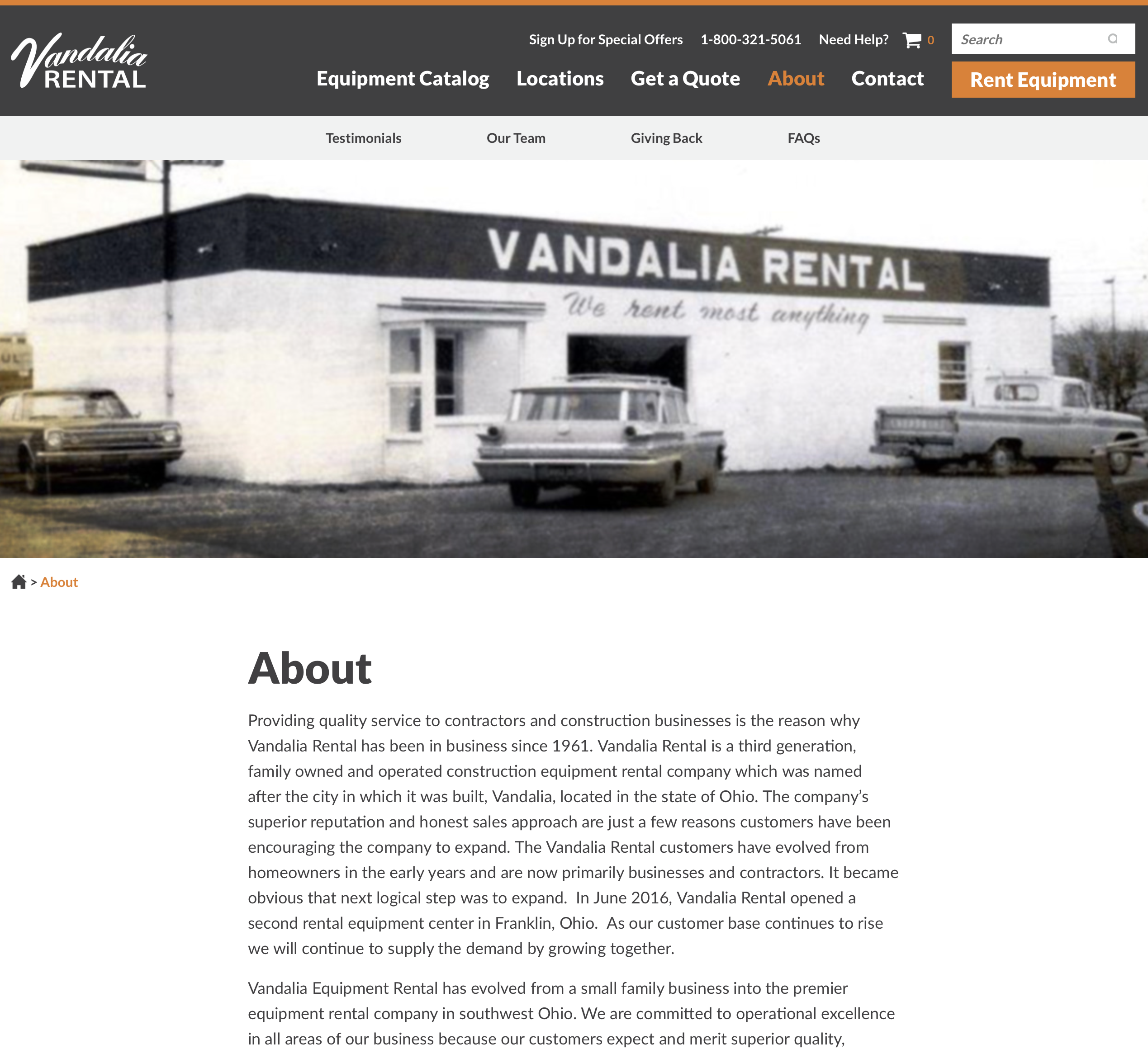 That Rental Site: New Website Reflective Of Growth For Vandalia Rental