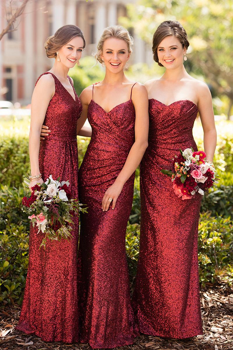 Sorella vita introduces new sequin bridesmaid dress color and high sorella vita bridesmaid dresses in crimson sequin ombrellifo Images
