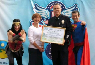 Captain Sandoval was acknowledged for his work to make the neighborhood safe.