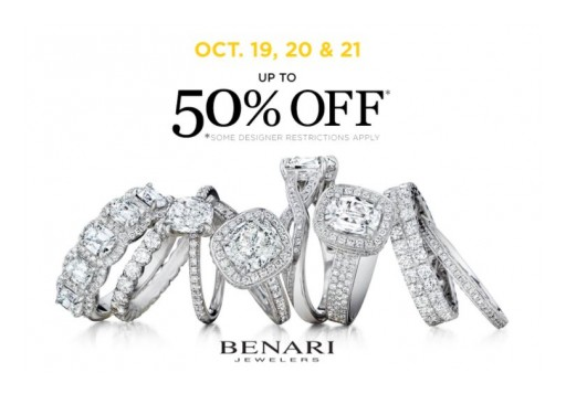 BENARI JEWELERS Announces Engagement Ring and Wedding Band Clearance Event