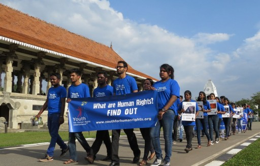 Sri Lankan Students Walk to Promote Peace and Tolerance