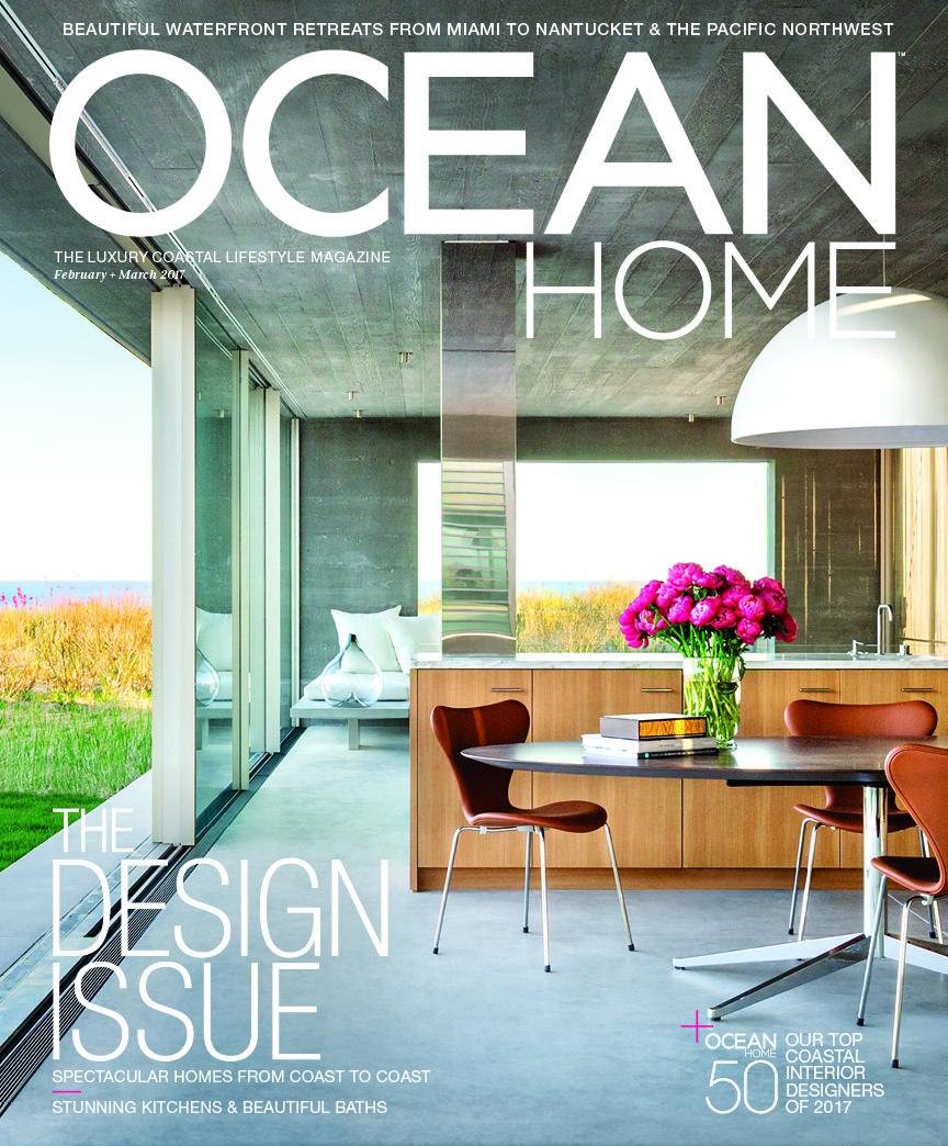 Ocean Home Magazine S Feb Mar 2017 Cover Oh Top 50 Interior Designers