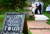 Garden Wedding In The Suburbs for LGBTQ Legal Marriage