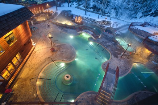 Old Town Hot Springs - winter, Steamboat Springs