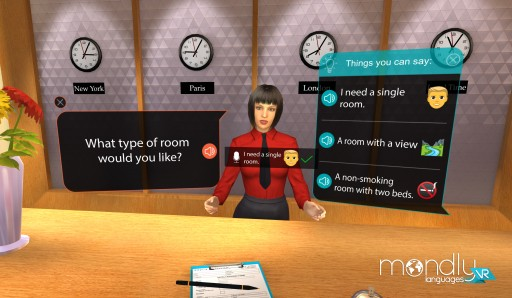 Mondly Launches the First VR Language App With Speech Recognition for Daydream