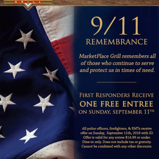 MarketPlace Grill Will Treat First Responders on 9/11
