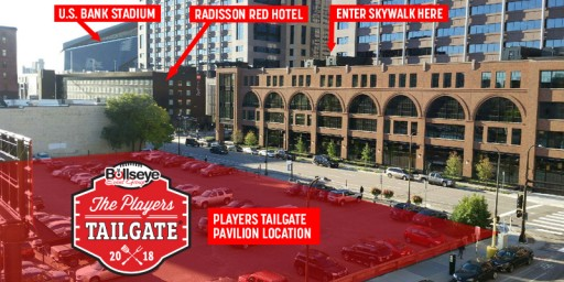 Bullseye Event Group Announces Location for 2018 Players Tailgate at Super Bowl LII in Minneapolis