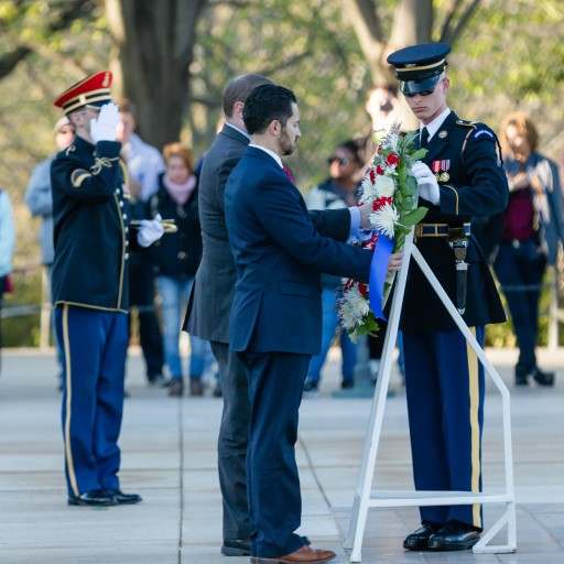 Jersey Memorial Group Honors Veterans at the Tomb of the Unknown Soldier