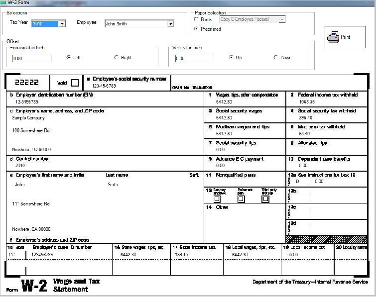 ezPaycheck Payroll Software Make It Easy To Print Tax Form W-2, W ...