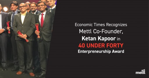Mettl's CEO Honored With Economic Times 40 Under 40 Entrepreneurship Award