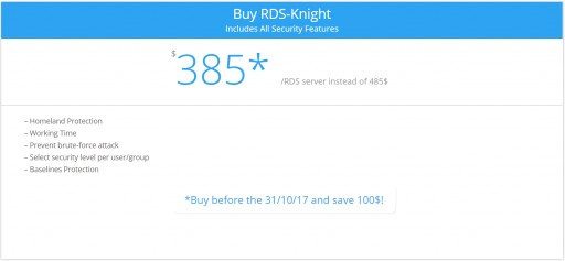September Sales Announcement for RDS-Knight