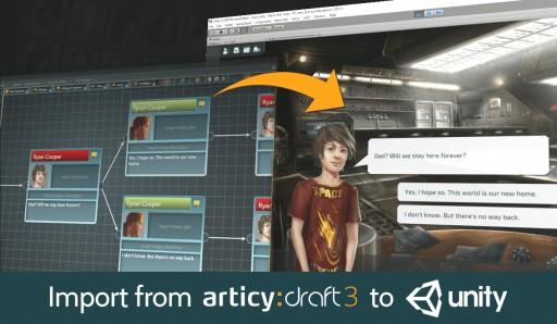 "Game Content Creation Tool ""articy:draft"" Adds Unity Integration with New Version 3.0"