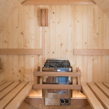 Almost Heaven Barrel Saunas Now Available In Nordic Spruce