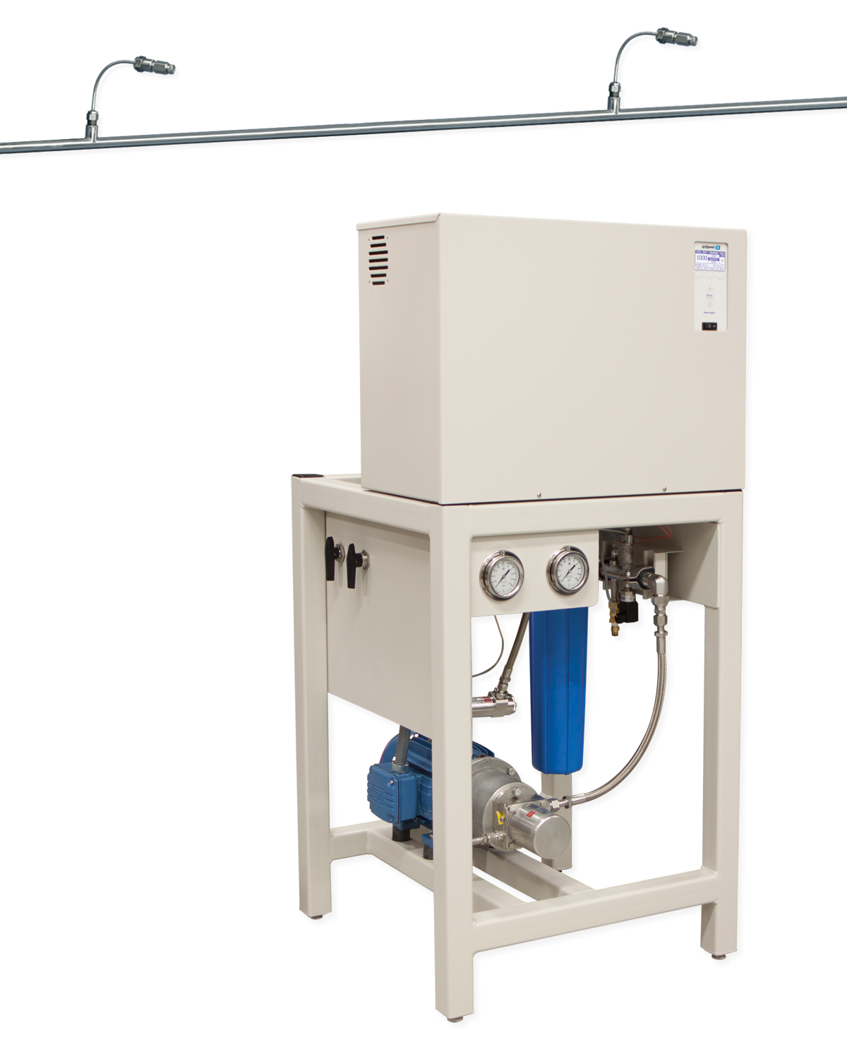 High Pressure Spray Booth : Dristeem high pressure system controls humidity and heat