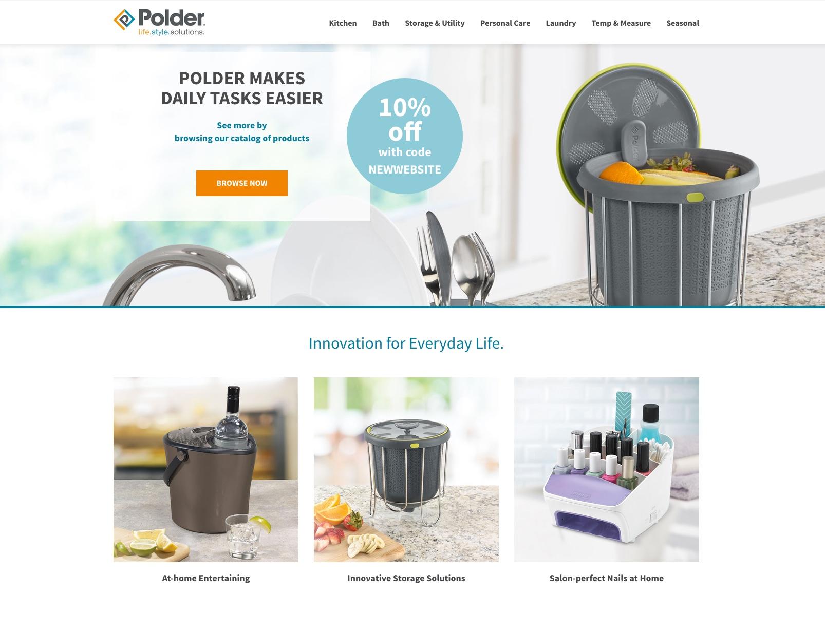 Polder Launches New Website and Award-Winning Branding Update