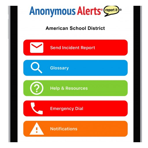 Anonymous Alerts® Anti-Bullying Mobile App Is Implemented by Over 32 Texas School Districts in Under 60 Days