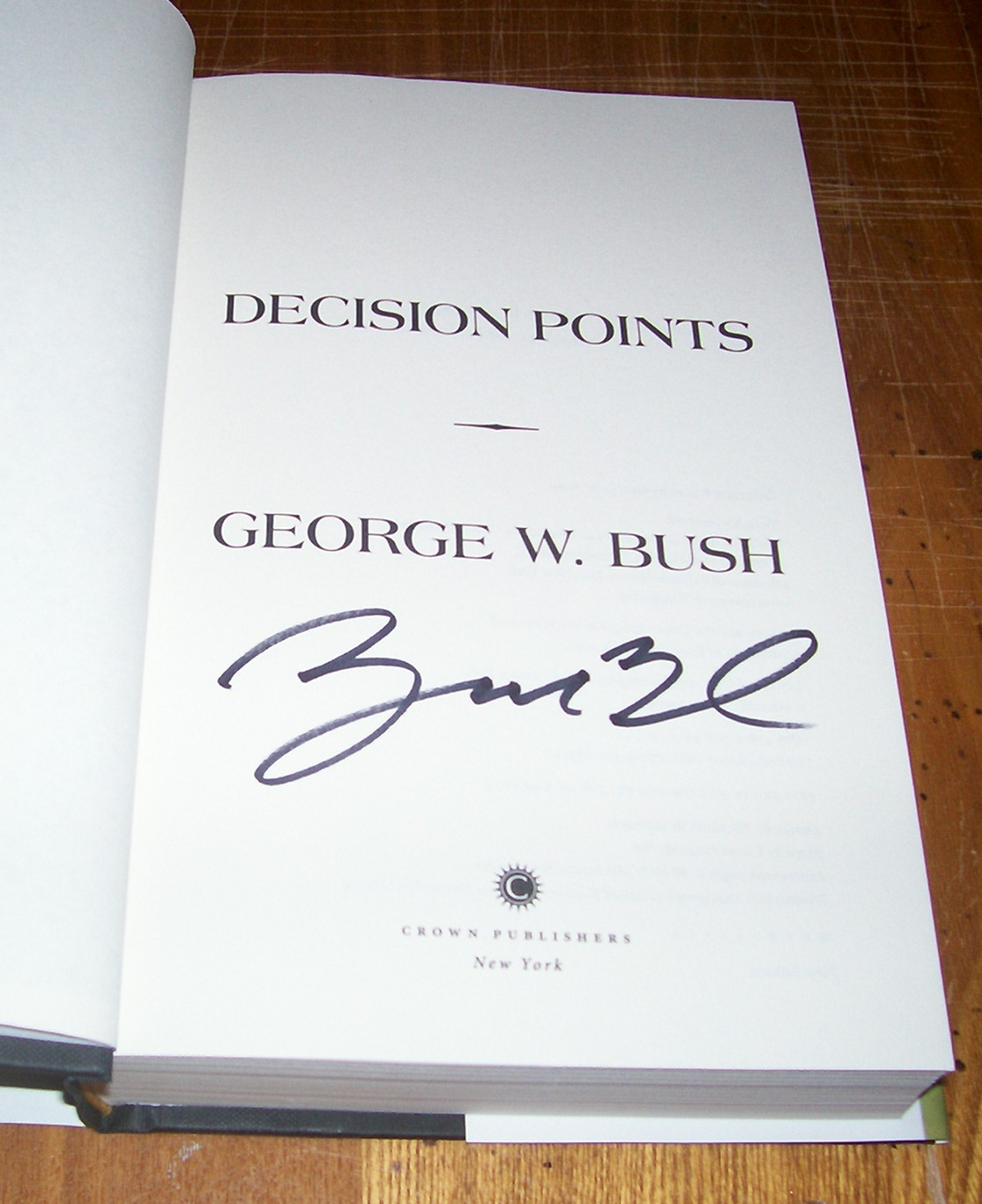 George Bush Signed Book