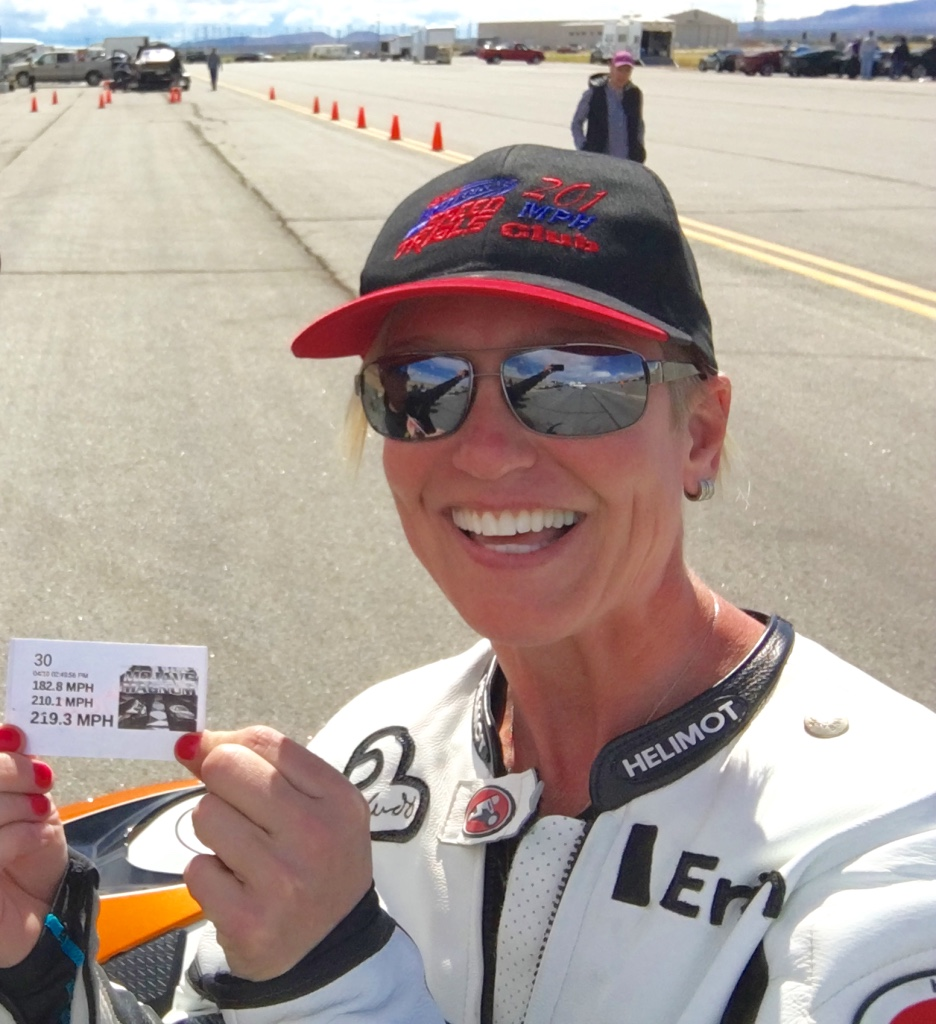 facebook executive and 12-time motorcycle speed record holder erin