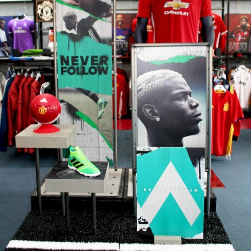 Soccer and Rugby Imports Features New Apparel Wall, Floor Fixtures, and Footwear Wall for Adidas in Three Storefronts