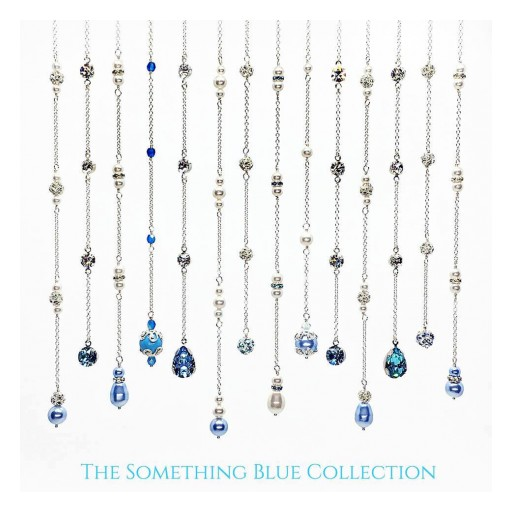 Two Be Wed Jewelry Launches the New Something Blue Collection of Elegant Back Necklaces for Brides