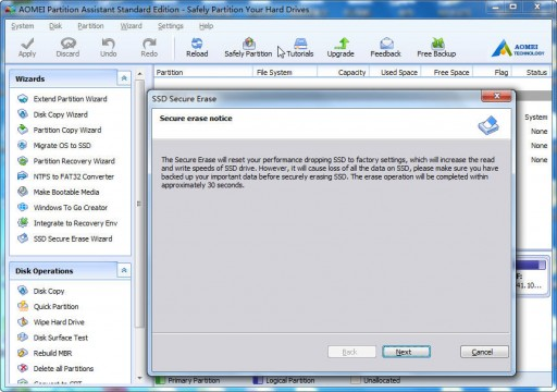New Updated AOMEI Partition Assistant 6.5 Adds SSD Secure Erase Wizard