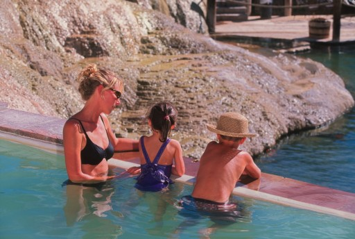family soak at The Springs Resort